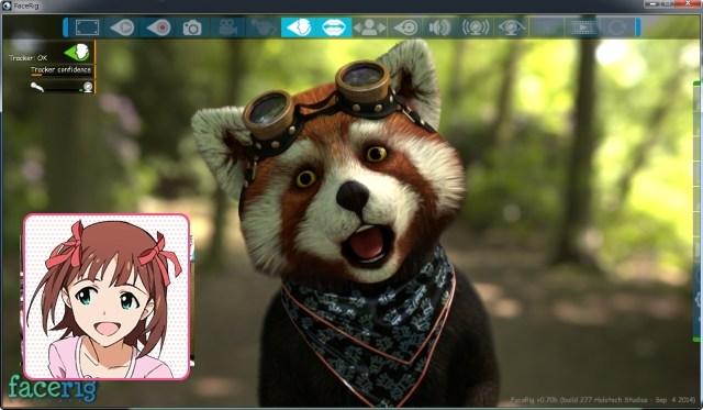 ※春香ちゃんの部分にはカメラからの映像が表示されています。