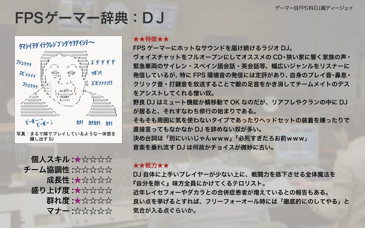 FPSゲーマーにホットなサウンドを届け続けるラジオDJ