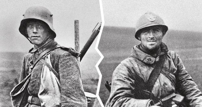第一次世界大戦時のフランス軍およびドイツ軍